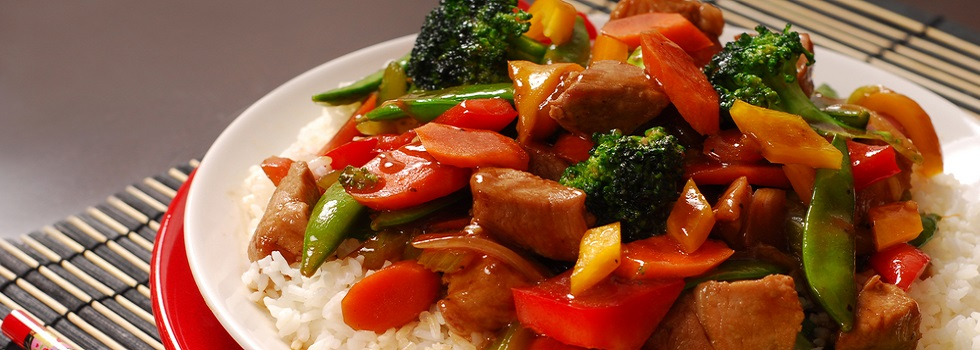 Chinese Dish with Fried Vegetables